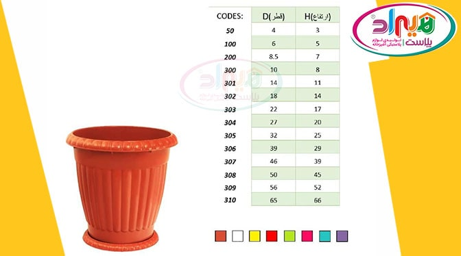 گلدان پلاستیکی حیاط